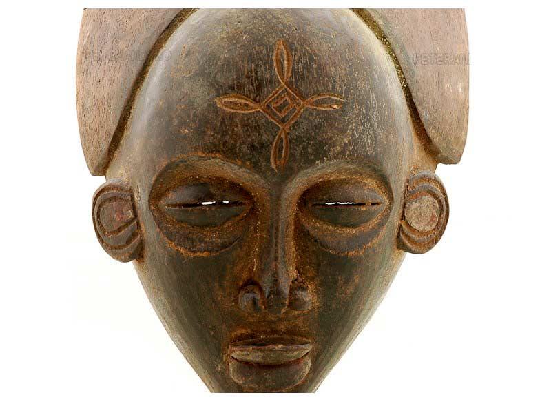 Masque Africain Tshokwe Congo Art Tribal Premier Primitif  Afrique  932