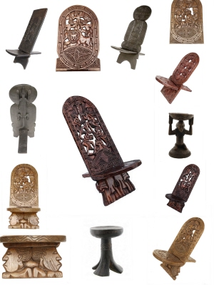 chaises a palabre africaines ou sieges chaise de gardien chaise africaine siege africain. Black Bedroom Furniture Sets. Home Design Ideas