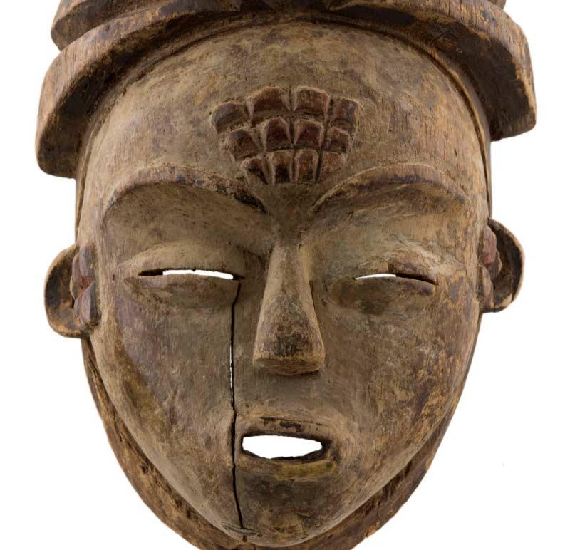 élégant et gracieux 2019 authentique grande remise Ancien Masque africain Mukuyi Okuyi Lumbu-Punu -Pounou-Gabon
